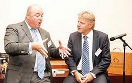 Jaap Bond (r) en John Nederstigt tijdens Duurzame Dates Noord-Holland 2011